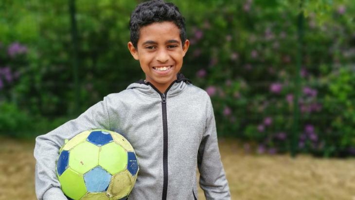 Issak uit Eritrea vluchtte via Ethiopië naar Nederland.