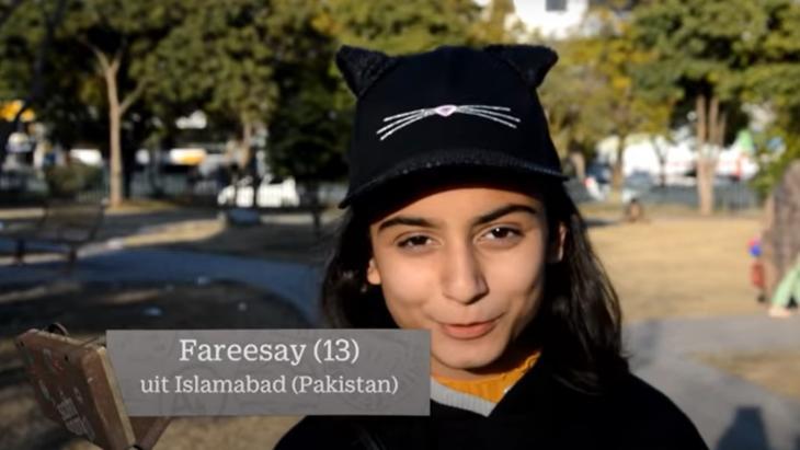 Fareesay (13) uit Pakistan