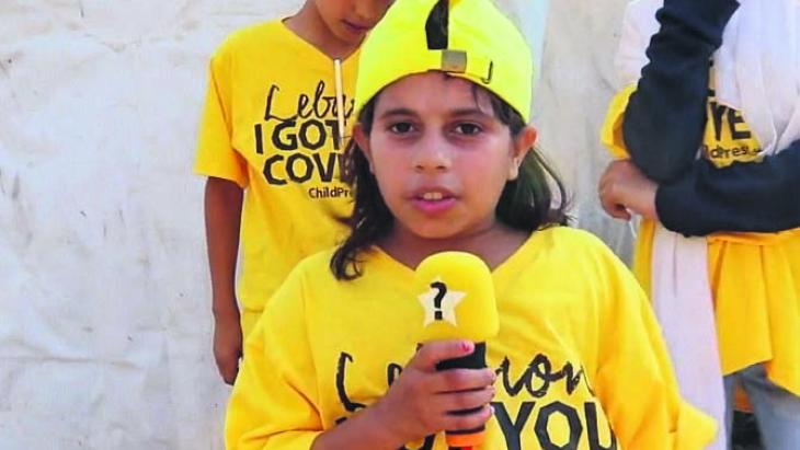 Masa uit Syrië is kinderreporter en wil het graag hebben over kinderrechten.