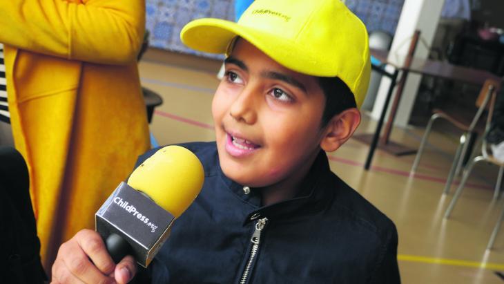 Sofiyaan uit Amsterdam vindt dat journalisten wel wat meer kinderen mogen interviewen.