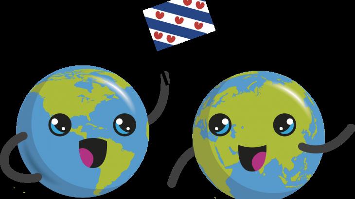 globy met friese vlag