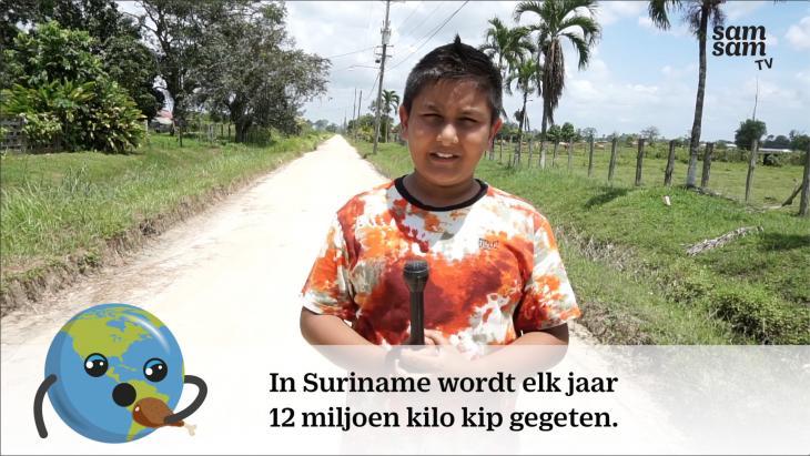 In Suriname wordt elk jaar 12 miljoen kip gegeten