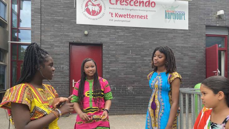 Op basisschool Crescendo besteden de leerlingen veel aandacht aan slavernij.