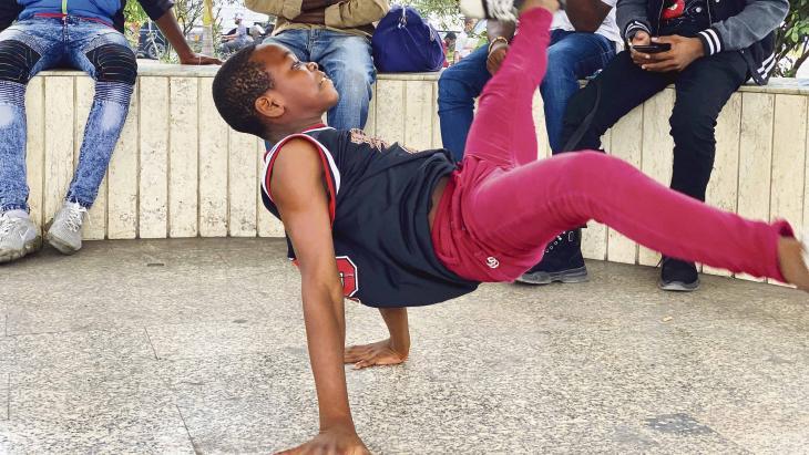 Voor Grady uit Congo is breakdance meer dan een hobby.