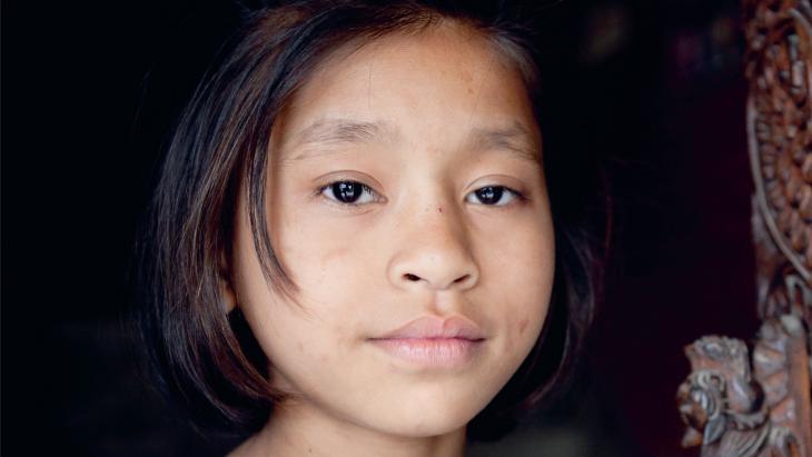 Deebi woont in een opvanghuis in Kathmandu (Nepal).