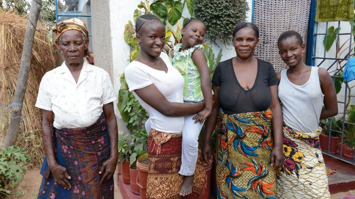 Salomés familie zorgt goed voor haar.