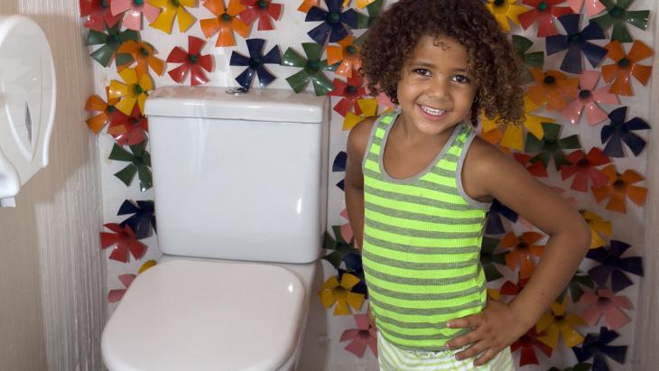 Jammer dat je de bloemen niet ziet als je op de wc zit.