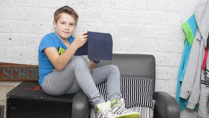 Doordeweeks skypet Rick bijna elke dag met zijn ouders via de iPad.
