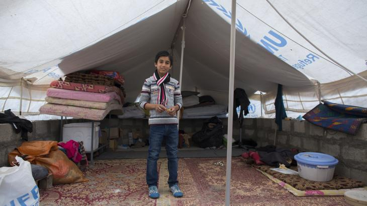 Sabah uit Syrië woont al 2 jaar in een vluchtelingenkamp.